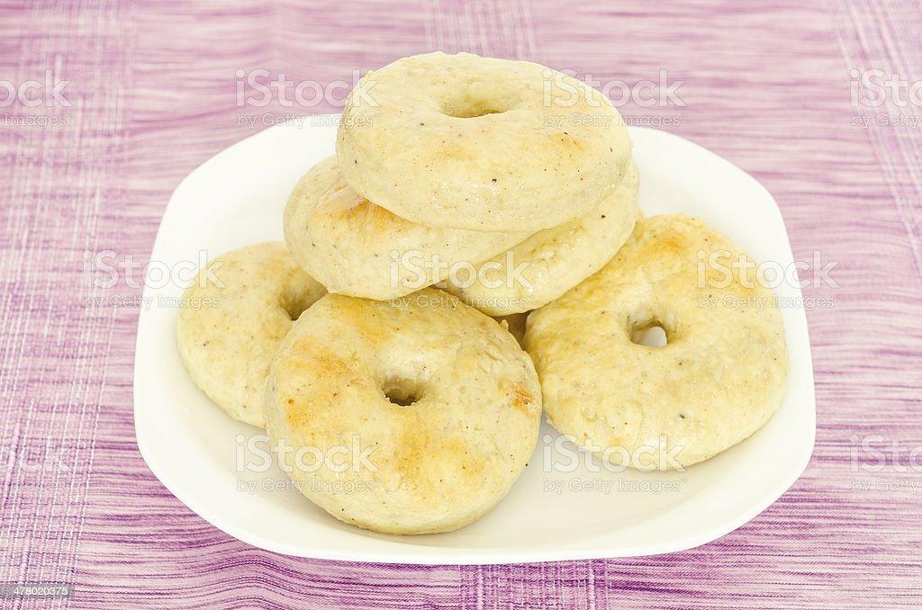 Homemade donut royalty-free stock photo