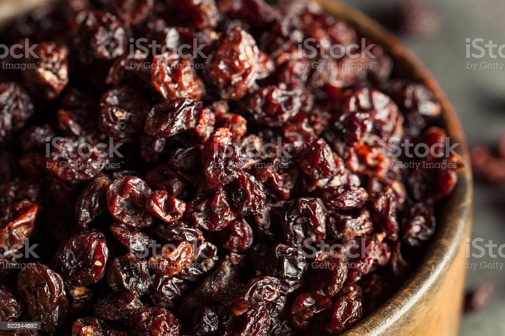 Homemade Dry Black Currants stock photo