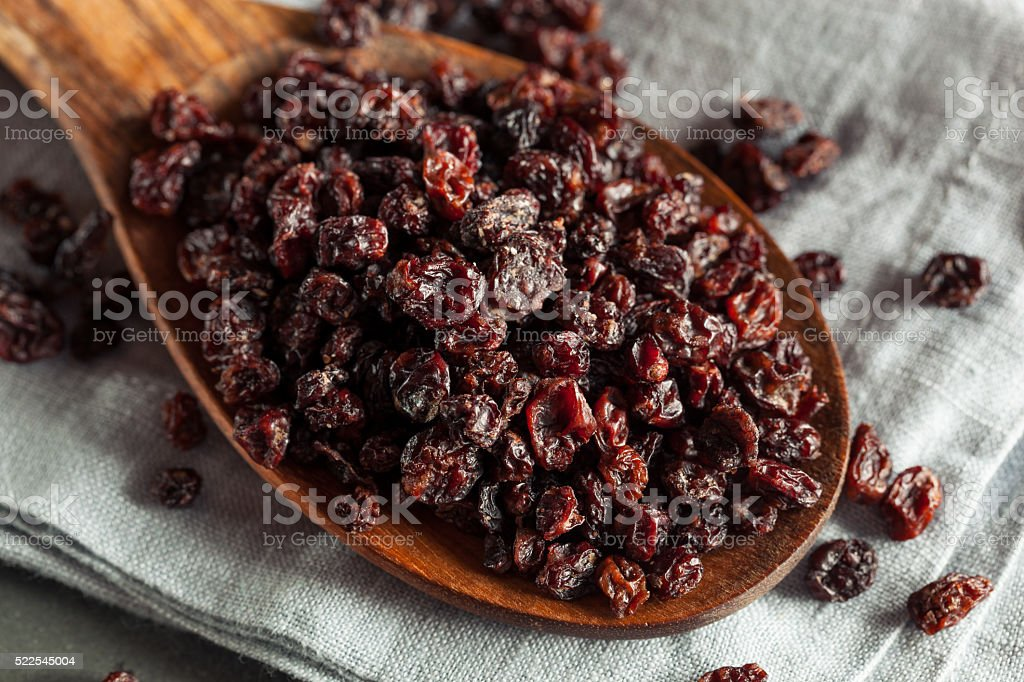 Homemade Dry Black Currants stock photo