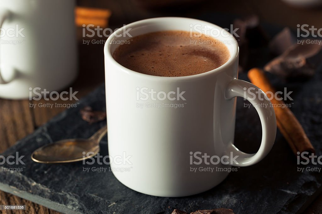 Homemade European Drinking Chocolate stock photo