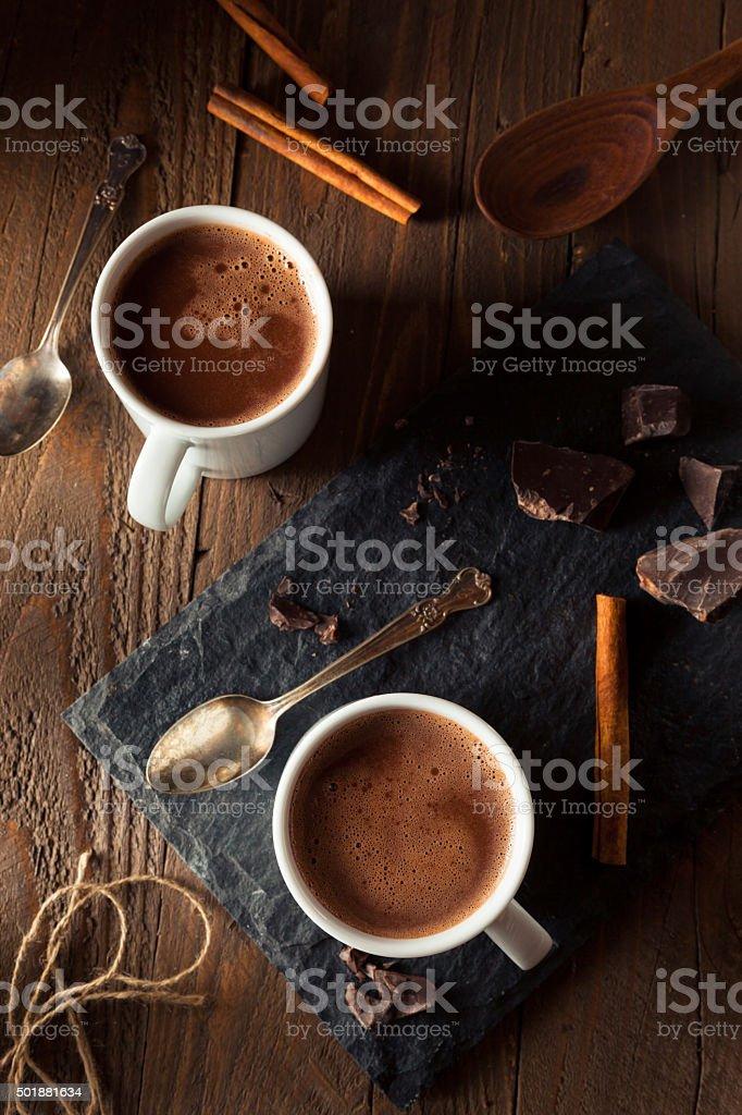 Homemade European Drinking Chocolate stock photo