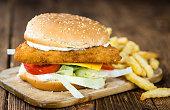 Homemade Fish Burger