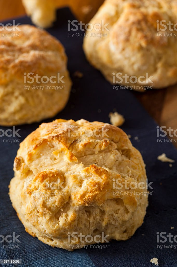 Homemade Flakey Buttermilk Biscuits stock photo