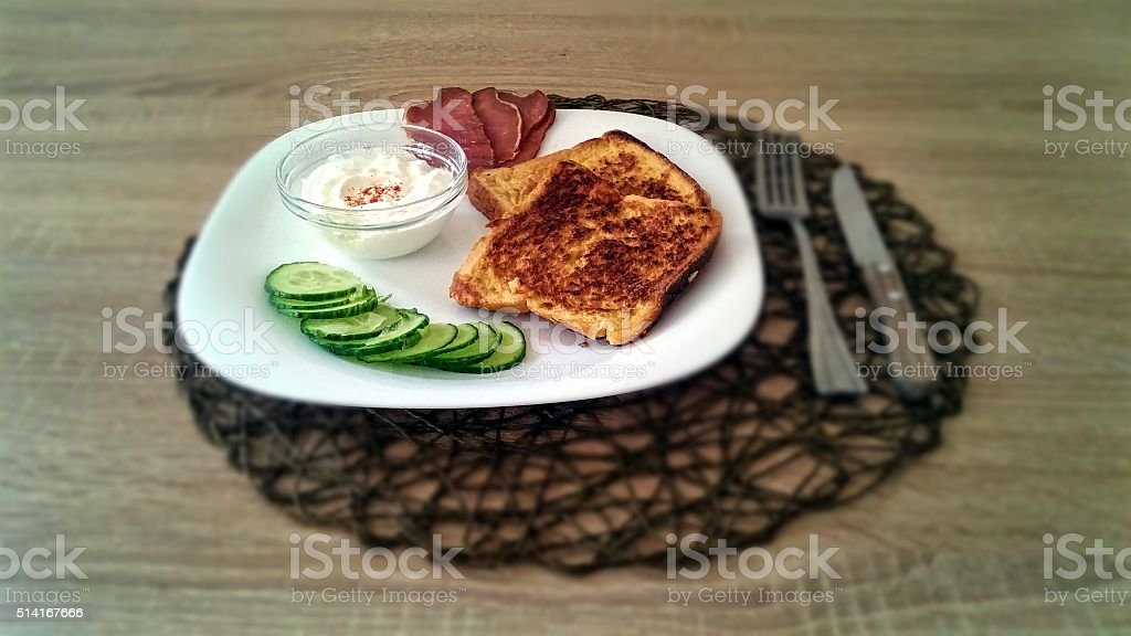 Homemade french toast royalty-free stock photo