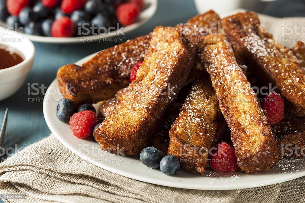 Homemade French Toast Sticks stock photo