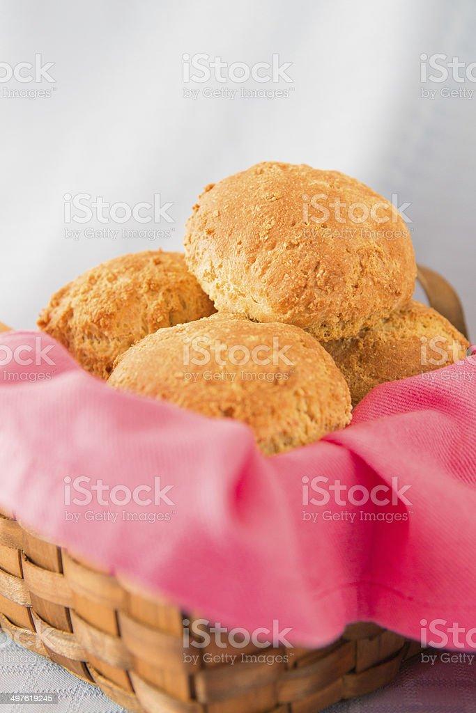 Homemade fresh buns stock photo