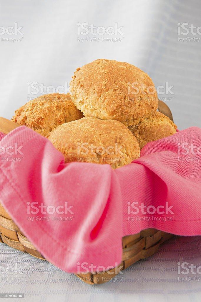 Homemade fresh buns royalty-free stock photo