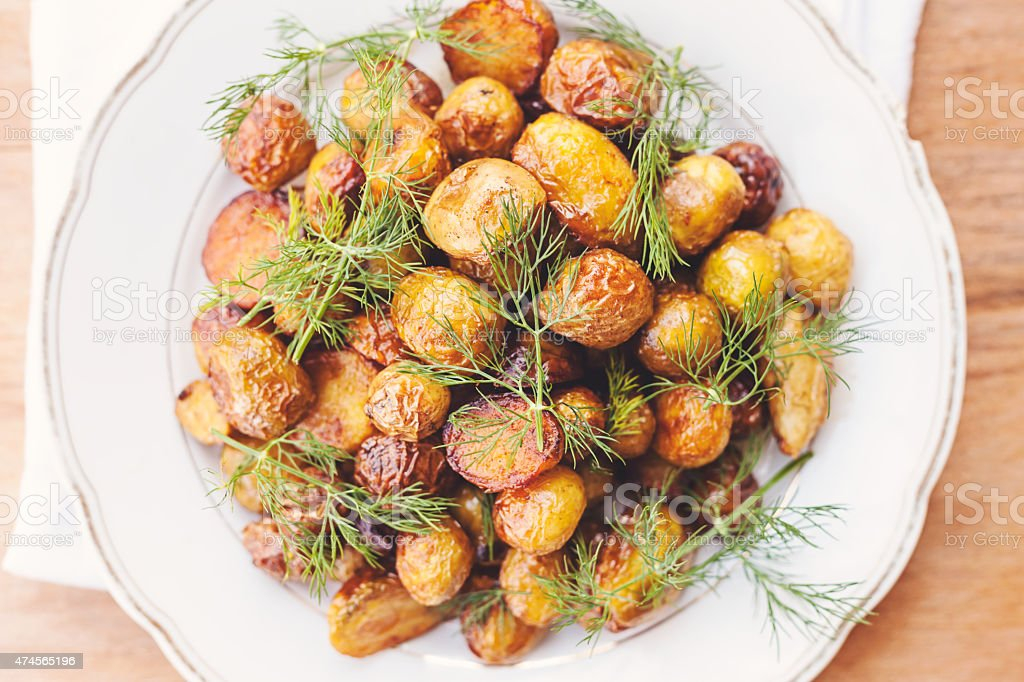 homemade fried potatoes stock photo