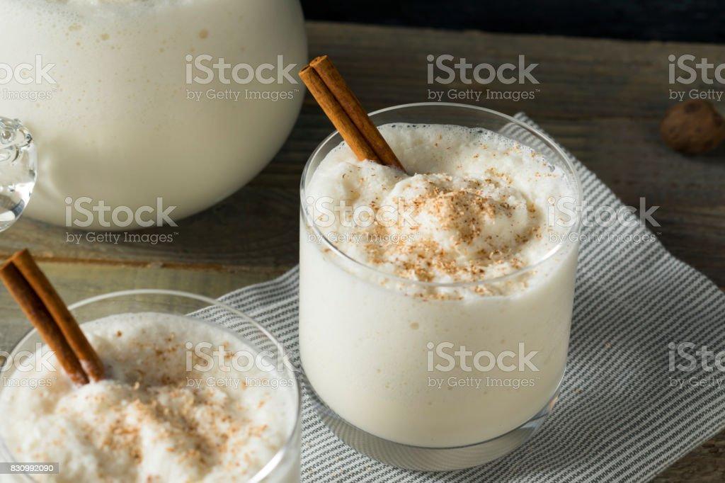 Homemade Frozen Bourbon Milk Punch stock photo