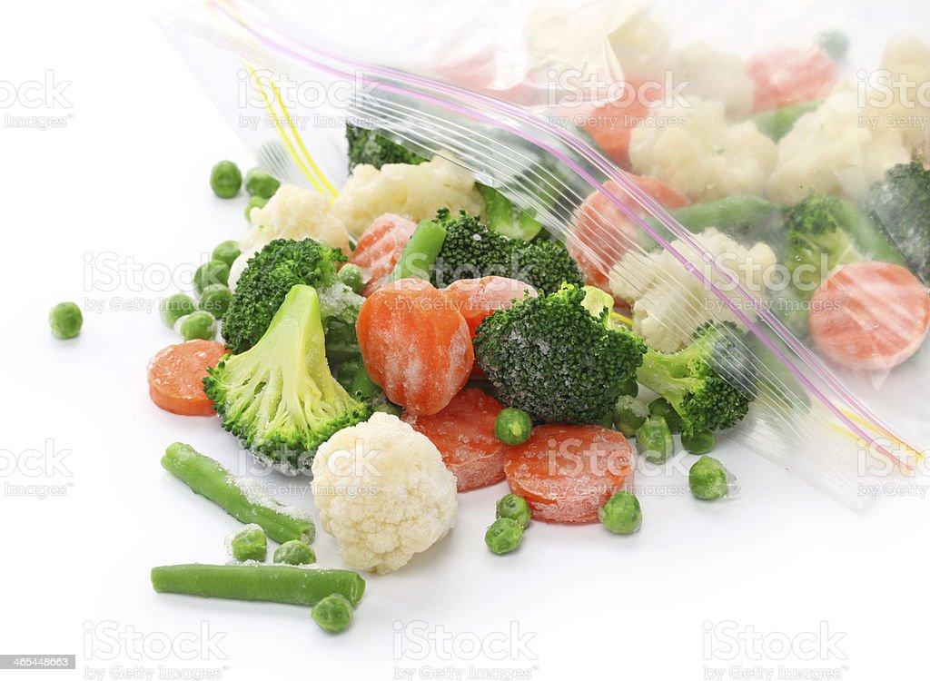 homemade frozen vegetables stock photo