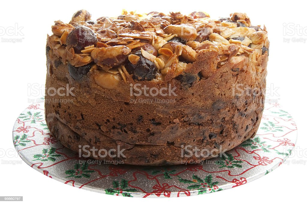 Homemade Fruit Cake royalty-free stock photo