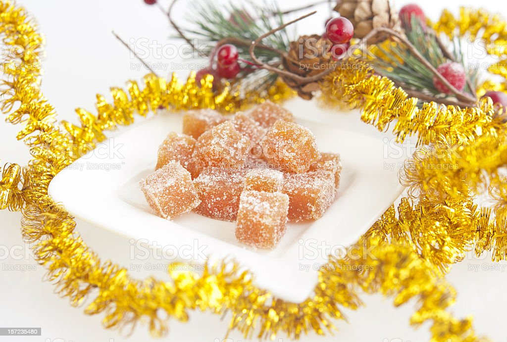 Homemade fruit candy for Christmas royalty-free stock photo