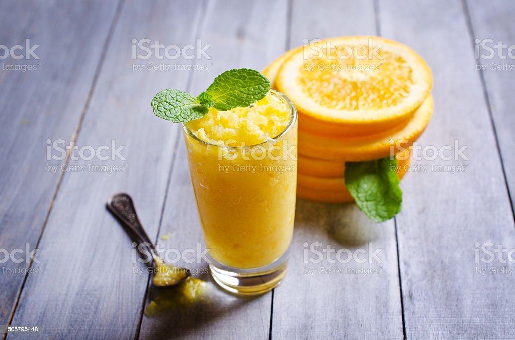Homemade fruit sorbet stock photo
