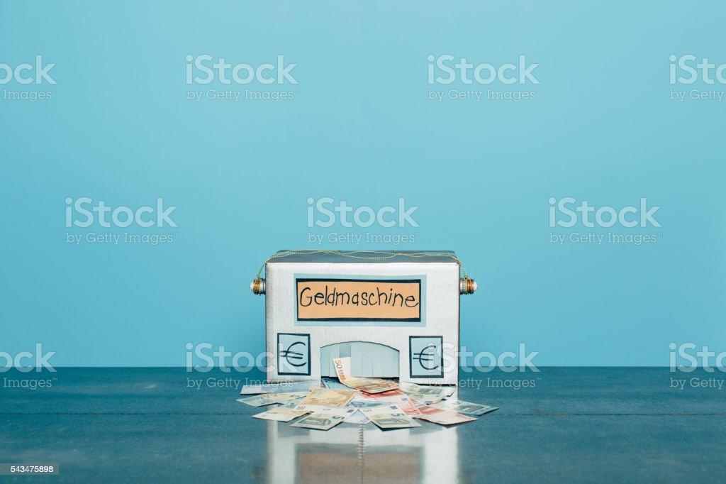 Homemade German Euro Making Money Machine stock photo