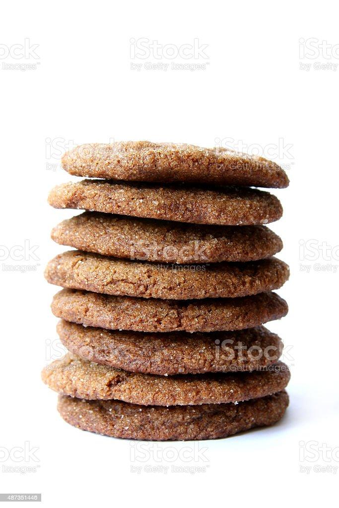 Homemade Ginger Snaps stock photo