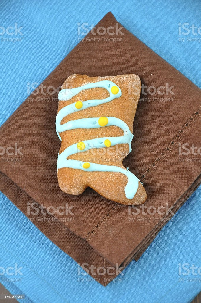 Homemade Gingerbread cookies for christmas royalty-free stock photo