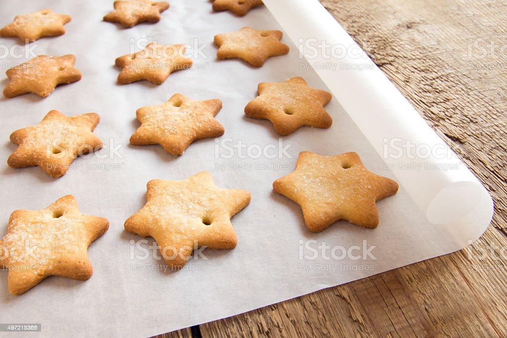 Homemade gingerbread cookies stock photo