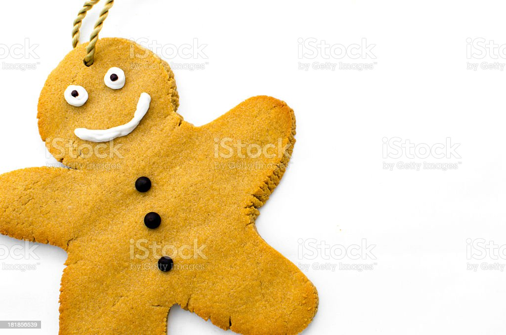 Home-made gingerbread man royalty-free stock photo
