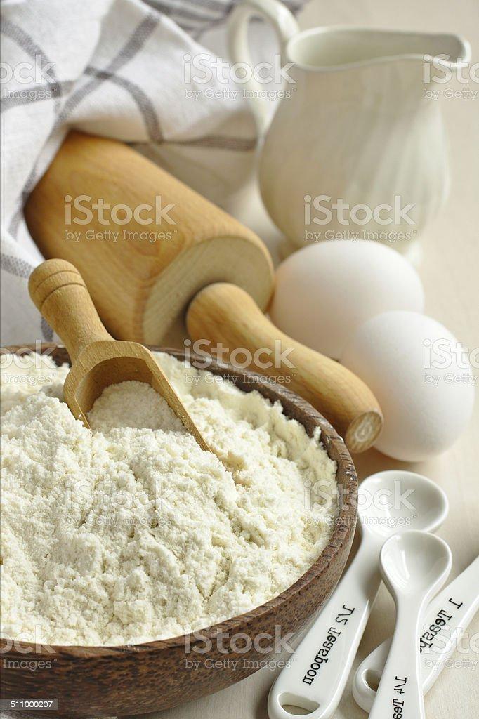 Homemade gluten free flour blend stock photo
