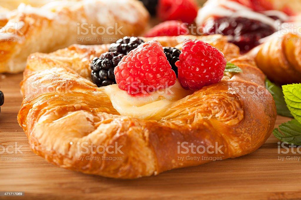 Homemade Gourmet Danish Pastry stock photo