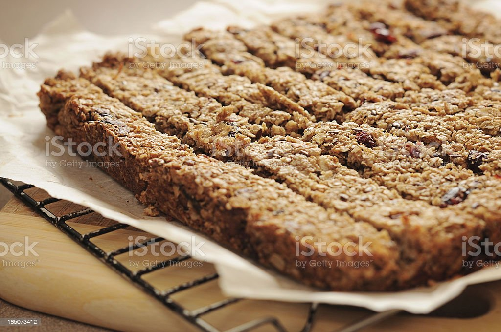 Homemade granola bars royalty-free stock photo