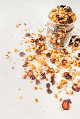 Homemade granola with dried fruits and nuts