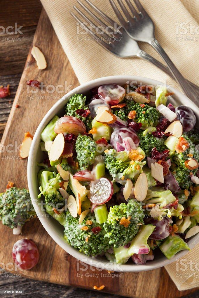 Homemade Green Broccoli Salad stock photo