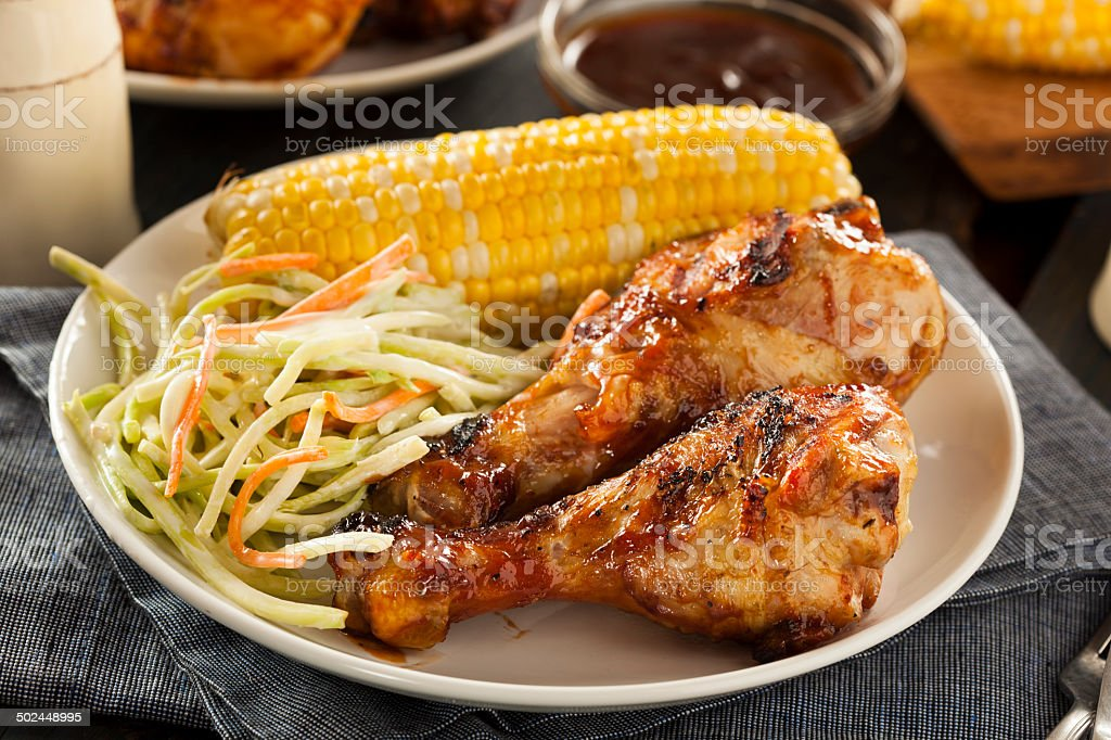 Homemade Grilled Barbecue Chicken royalty-free stock photo