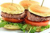 Homemade Grilled Beef Mini burgers