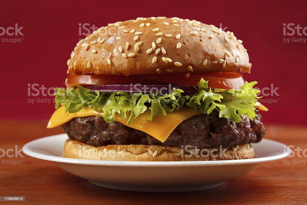 Homemade hamburger royalty-free stock photo