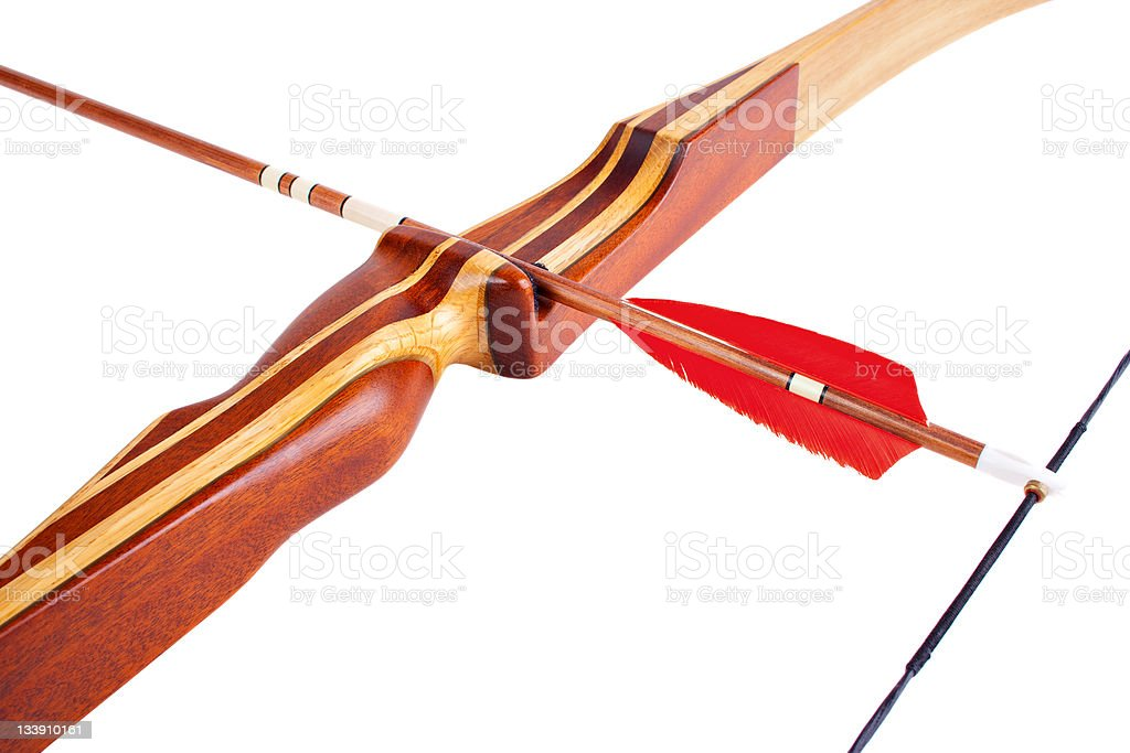 Homemade hunting bow royalty-free stock photo