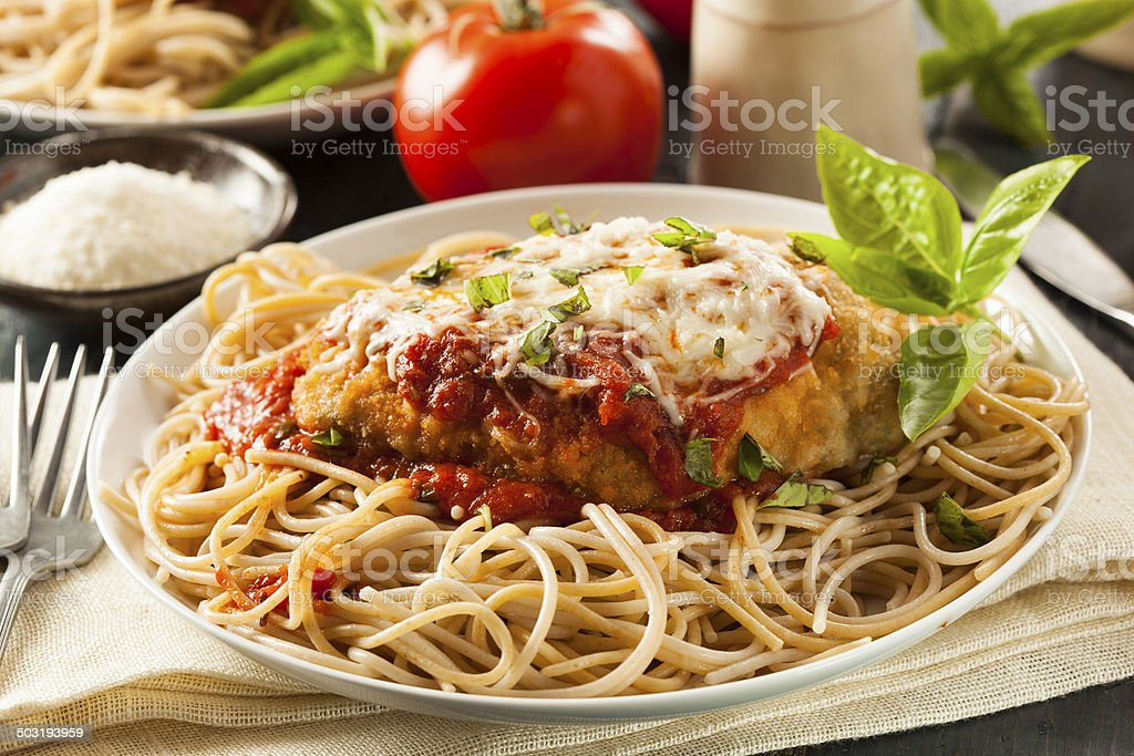 Homemade Italian Chicken Parmesan stock photo