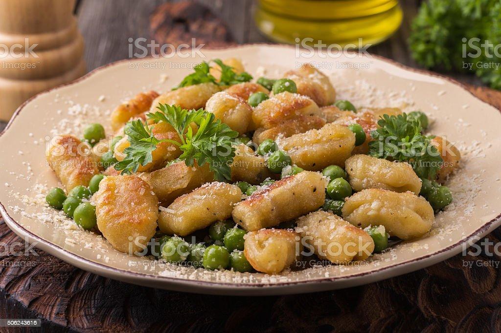 Homemade Italian Gnocchi. stock photo