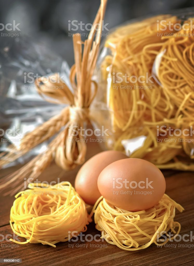 Homemade italian pasta stock photo