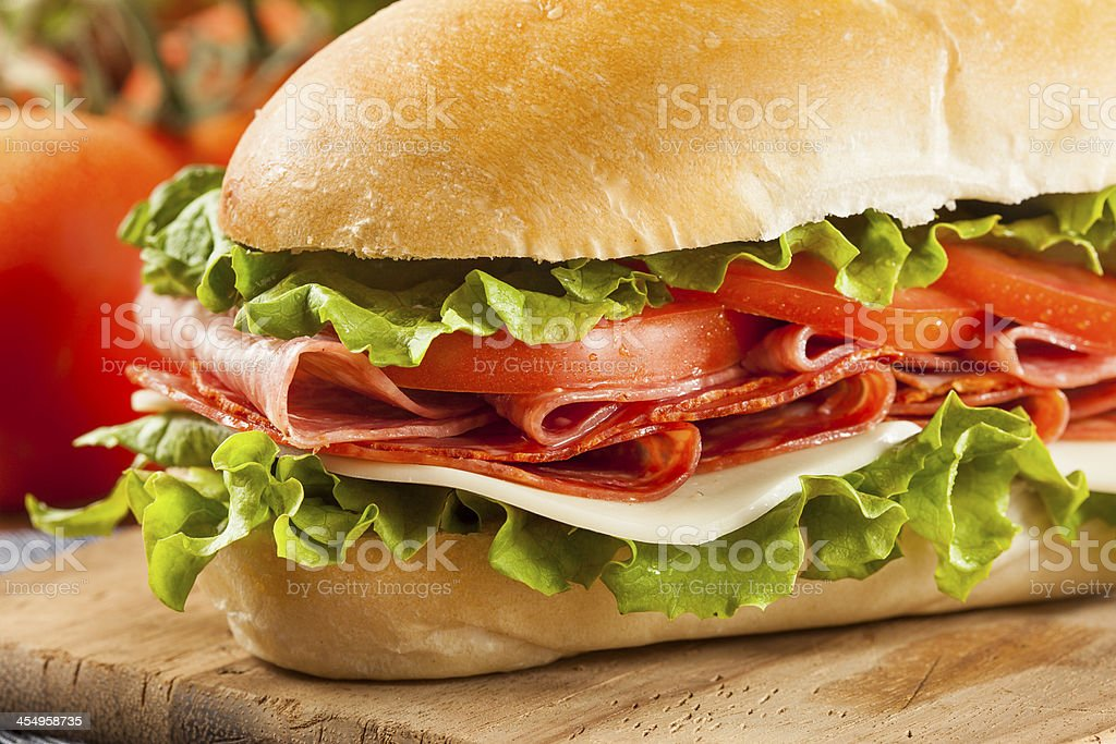 Homemade Italian Sub Sandwich royalty-free stock photo