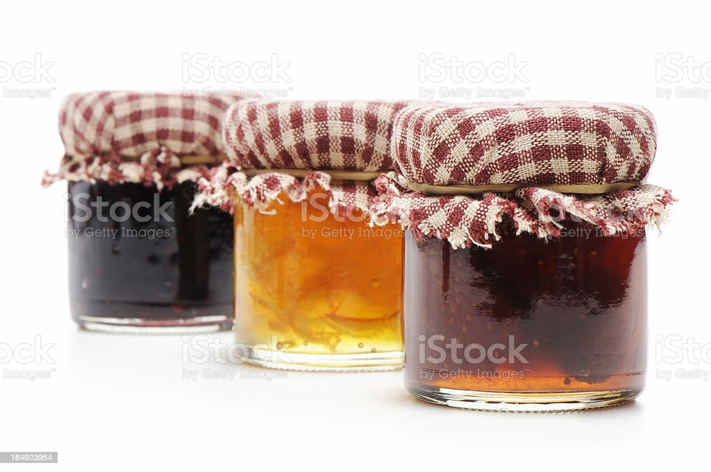 Homemade jellies stock photo