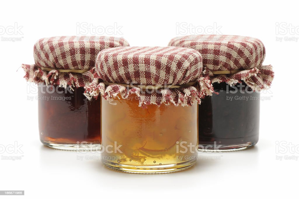 Homemade jelly or jam stock photo