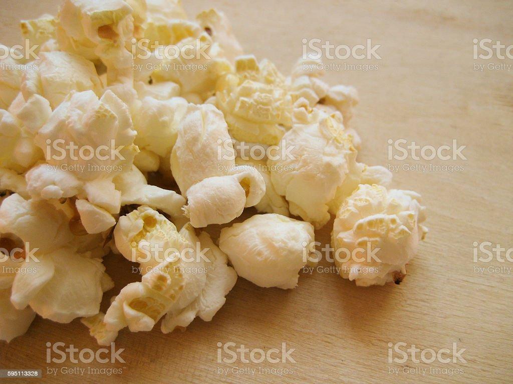 Homemade Kettle Corn Popcorn in a Bag stock photo