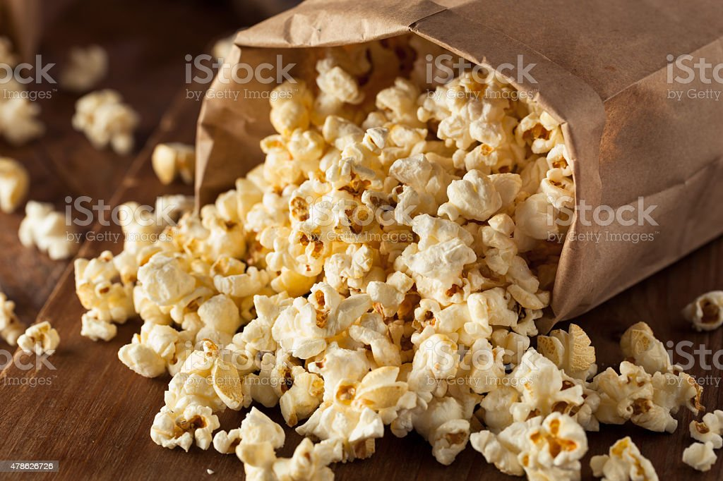 Homemade Kettle Corn Popcorn stock photo