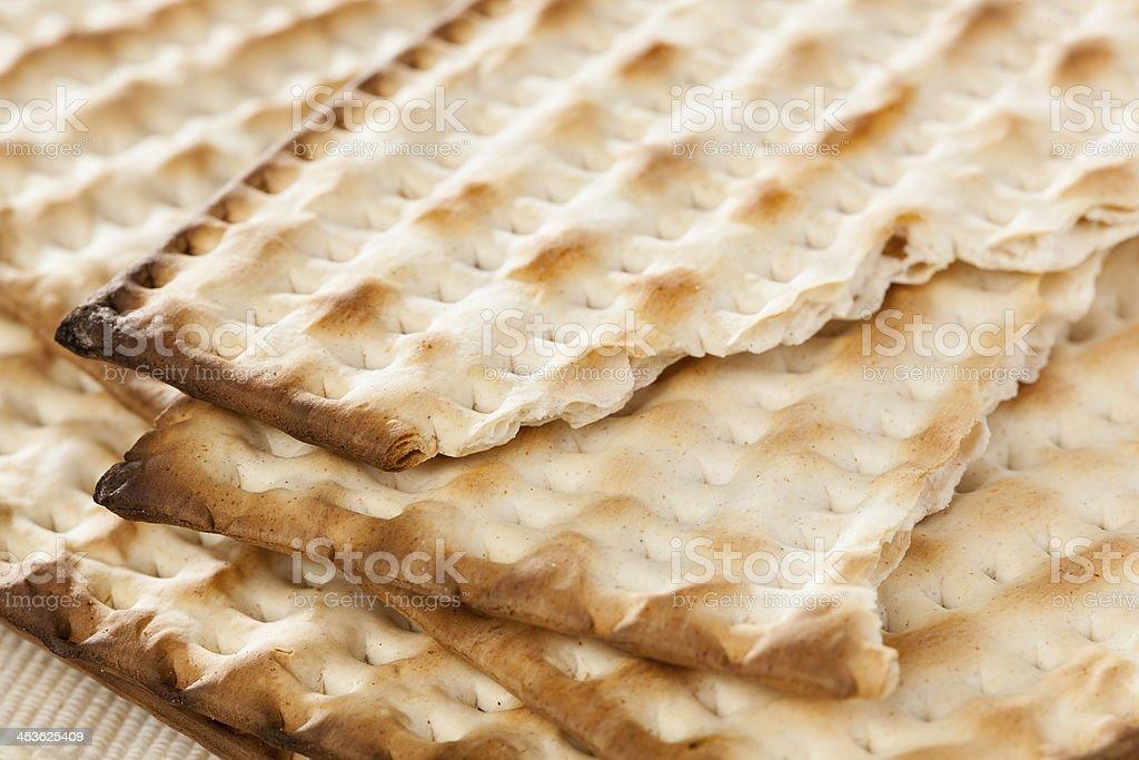 Homemade Kosher Matzo Crackers royalty-free stock photo