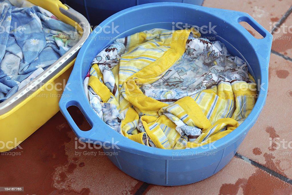 homemade laundry stock photo