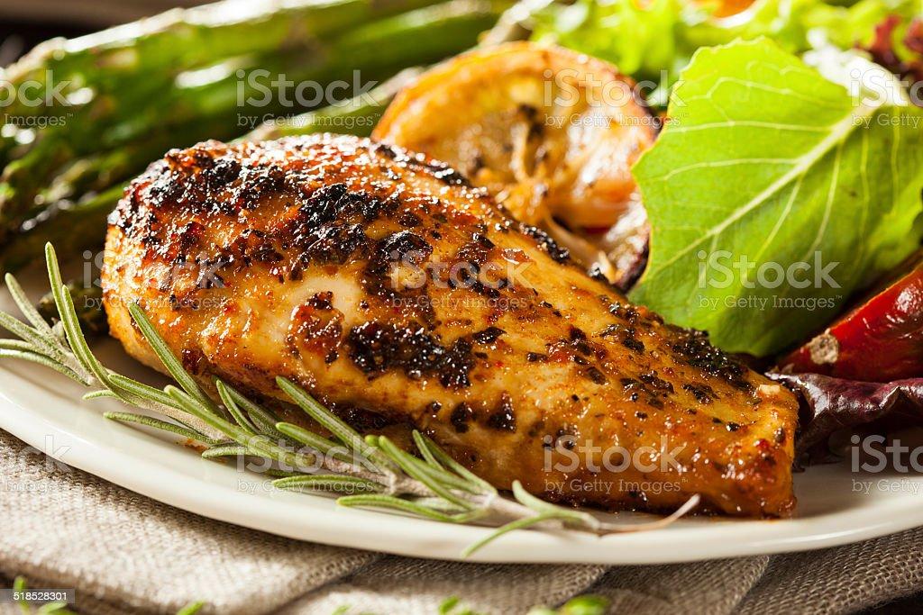 Homemade Lemon and Herb Chicken stock photo