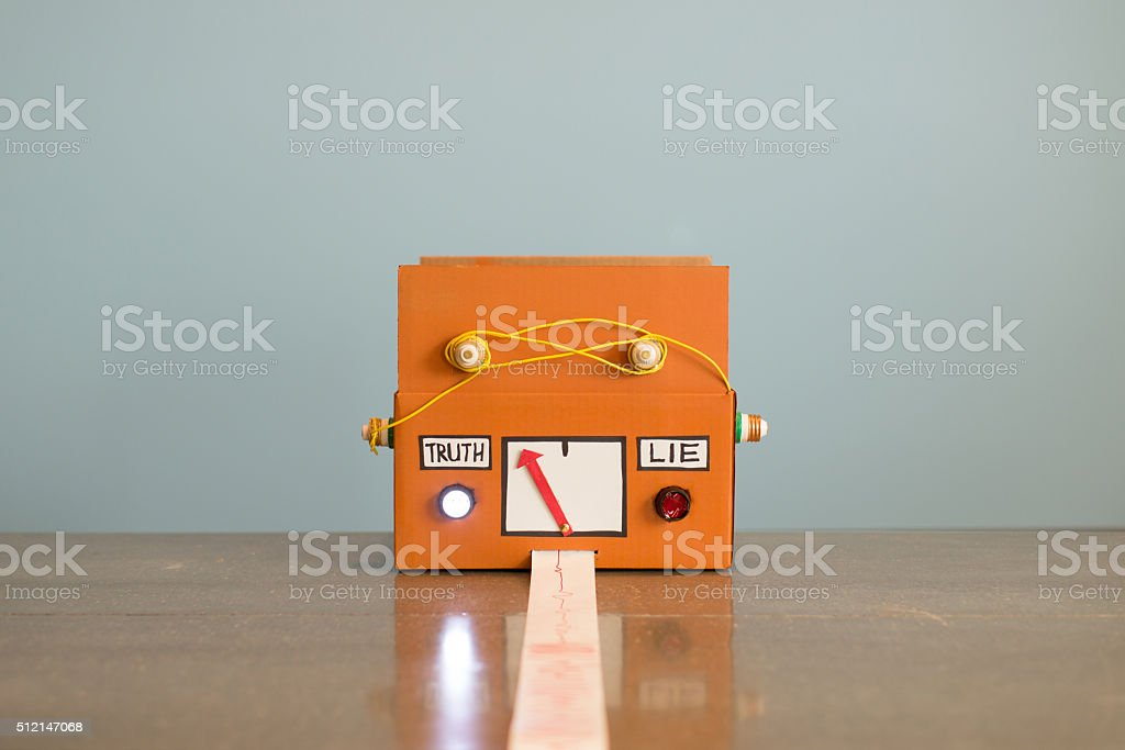 Homemade Lie Detector Machine Says Truth stock photo