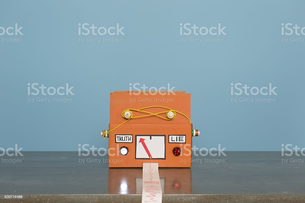Homemade Lie Detector Machine Signals Truth stock photo