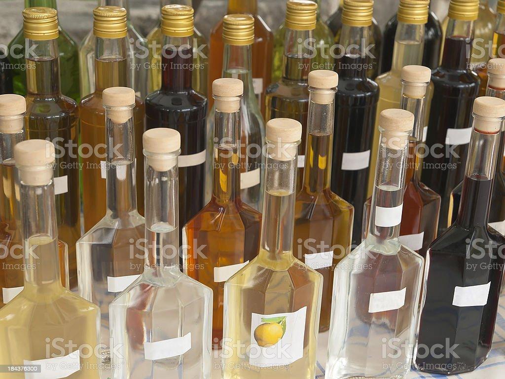 Homemade liqueur stock photo