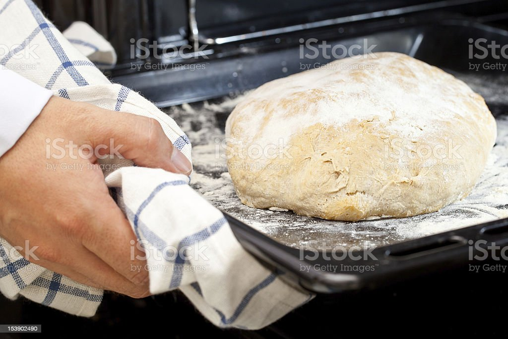 Home-made loaf of bread stock photo