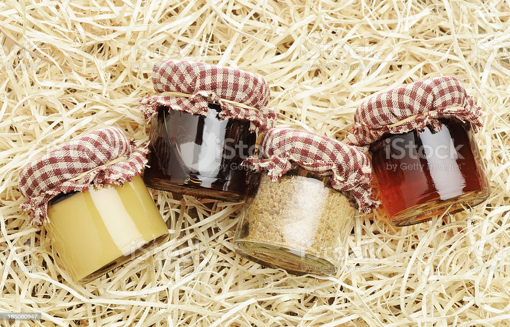 Homemade maple products royalty-free stock photo