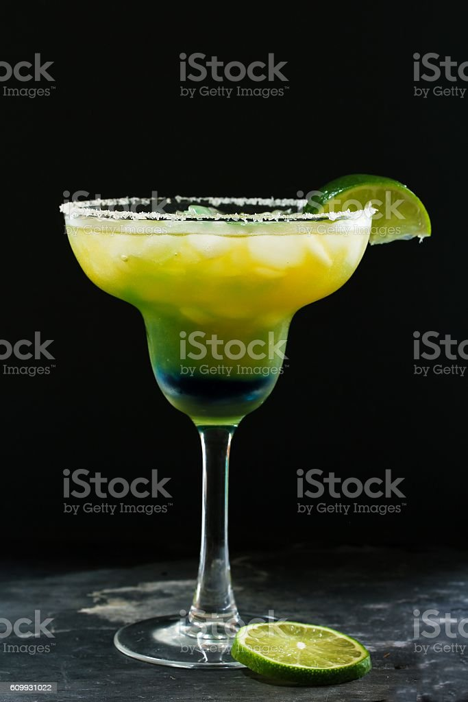 Homemade Margarita Cocktail with lime stock photo