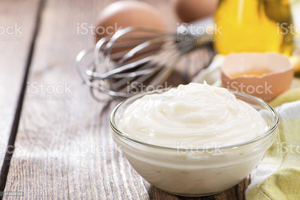 Homemade Mayonnaise stock photo