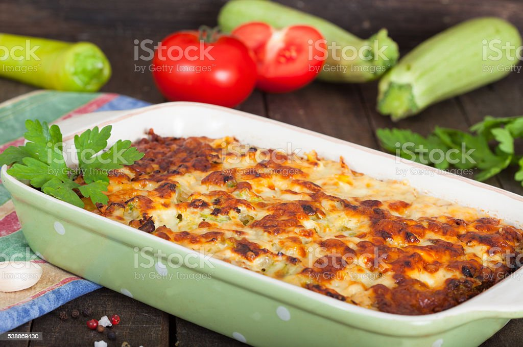 Homemade moussaka stock photo